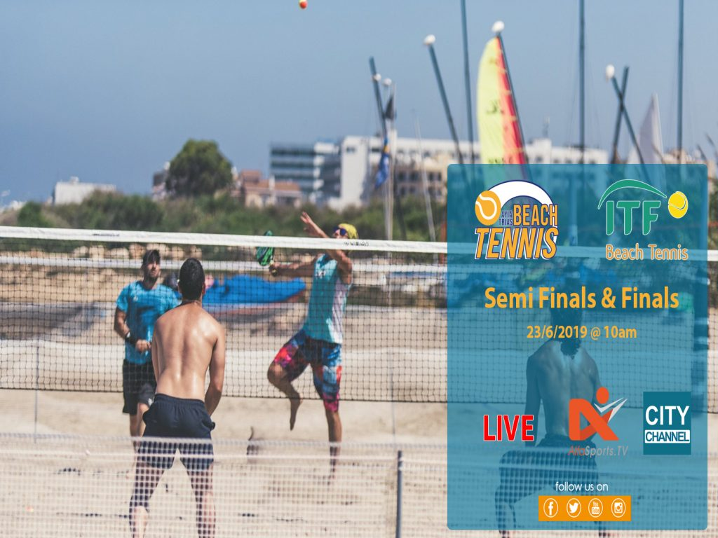 LIVE🔴2nd Ayia Trias International Beach Tennis Tournament | Semi Finals and Finals